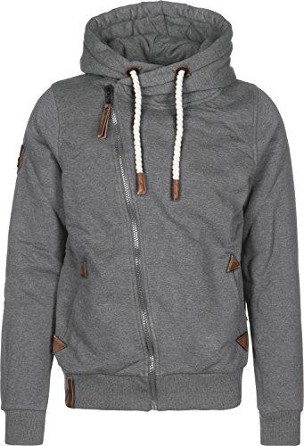 Naketano Male Zipped Jacket Hüter der Pflaumen VI Dark Grey Melange