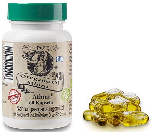 Athina® Oregano Öl Vegan - Bio 60 Kapseln. (3er Set)