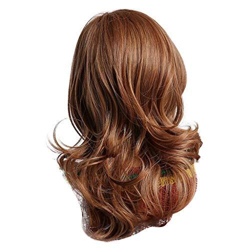 Lange Haar Perücke Damen Chemische Faser Haar Moderne Reizvolle Frau Brown Lockiges Haar