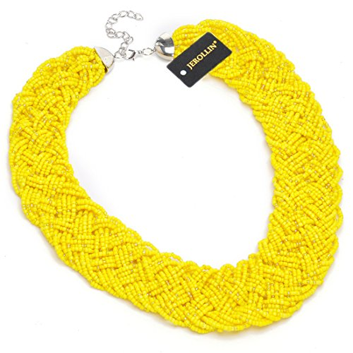 yellow-resin-beads-pendant-necklace-fashion-online-christmas-handmade-choker-statement-necklace-chai