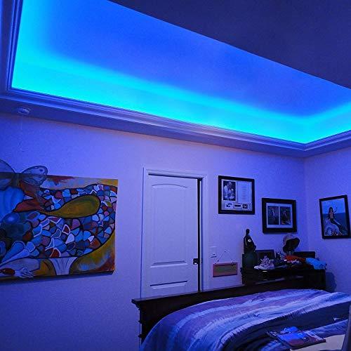 LE flexibel LED Streifen 12V Blau, 300lm / 4,8W pro Meter, 300 Stück 3528 LEDs, 5M in jeder Packung, LED Lichtband, LED Lichtleiste, LED Band - 4