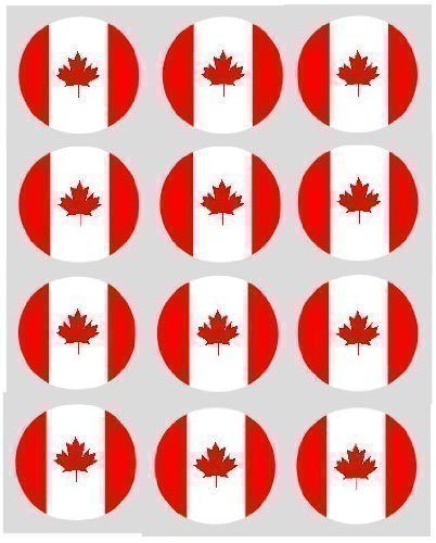 12 Kanadische Flagge reispapier fee / becher kuchen 40mm cake topper vorschnitt deko -