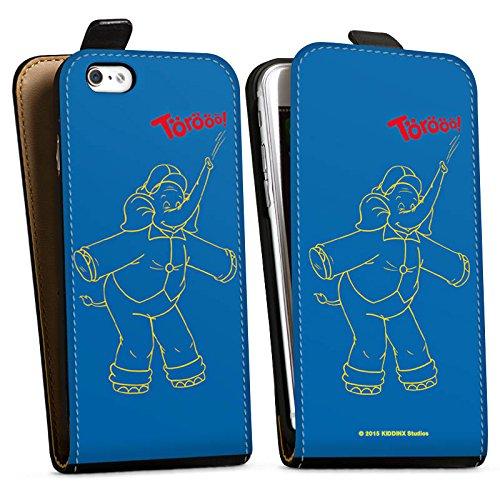 Apple iPhone X Silikon Hülle Case Schutzhülle Benjamin Blümchen Fanartikel Merchandise TÖRÖÖÖ! Downflip Tasche schwarz