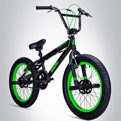 Bergsteiger Tokyo 20 Zoll BMX, Fatbike, 360° Rotor-System, Freestyle, 4 Stahl Pegs, Kettenschutz, Freilauf - Bike Bmx Zoll 20