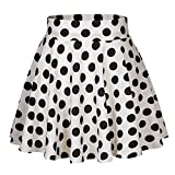 Urban GoCo Falda Mujer Elástica Plisada Básica Patinador Multifuncional Corto Falda (S, #10)