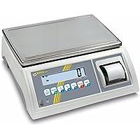 Balanza de mesa [Kern GAB 10 K de 3pm] de control y portionier Báscula con impresora integrada, con escaneado aprobación [M], rango de pesaje [Max]: 6 kg/15 ...