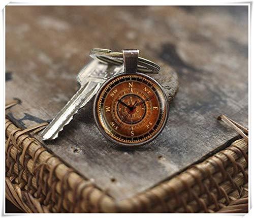Schlüsselanhänger mit Kompass-Anhänger We Are Forever, Vintage-Stil, Kompass-Schlüsselanhänger, Old-Kompass-Schlüsselanhänger, Reisegeschenk, Kartengeschenk -