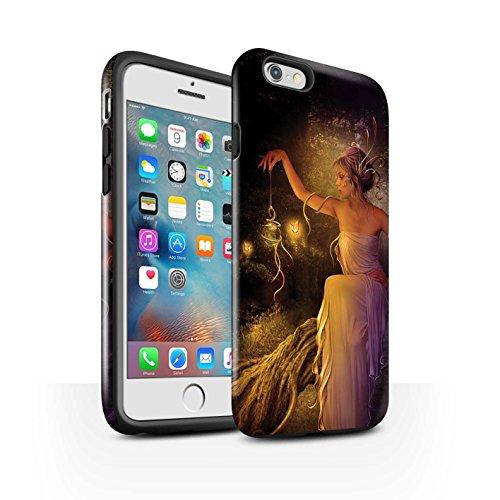 Officiel Elena Dudina Coque / Brillant Robuste Antichoc Etui pour Apple iPhone 6+/Plus 5.5 / Par le Vent Design / Un avec la Nature Collection Poussière de Lutin