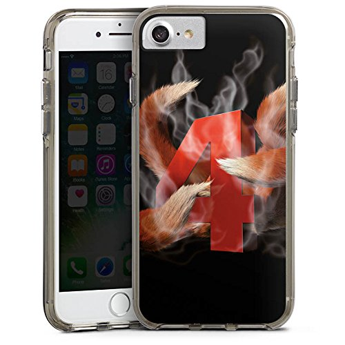 Apple iPhone X Silikon Hülle Case Schutzhülle Elotrix Fanartikel Merchandise Youtube Bumper Case transparent grau