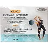 Guam - Leggings Snell MASSAGGIANTE Colore Nero con Alghe Marine (S-M (42/44))