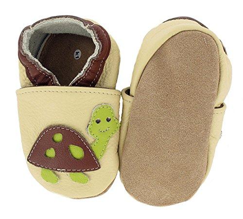 HOBEA-Germany Krabbelschuhe Schildkröte, Chaussures Bébé quatre pattes (1-10 mois) mixte bébé Beige (beige)