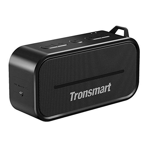 [Altavoz Bluetooth] Tronsmart Inalámbrico Bluetooth,Batería de 1900 mAh Bluetooth 4.2 Soporte para Todos los Dispositivos Bluetooth 10W Subwoofer Impermeable IPX56 con Sonido Estéreo, Manos Libres y Micrófono Integrados 12 HORAS de Emisión Continua
