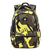 UEK Rucksack Jungen Schulrucksack Laptop Backpack Daypacks Schultaschen für Wandern Reisen Camping