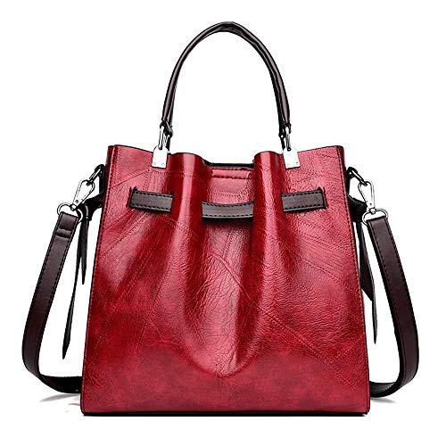wangli 2019 Neue Europäische Und Amerikanische Leder Große Kapazität Einfache Beiläufige Schulter Geschlungene Damen Tasche,D -
