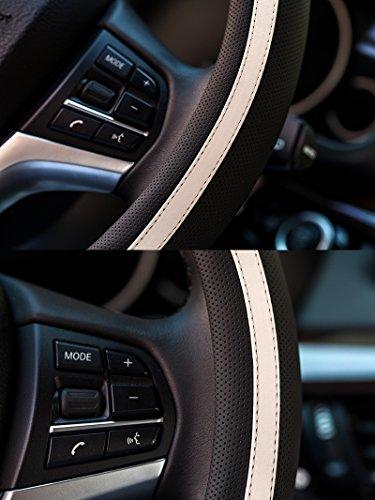 15 HCMAX Microfibra Morbido Veicolo Coprivolante Comodo Protezione per Volante dellautomobile Universale Diametro 38 cm