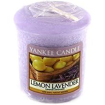 Yankee Candle Samplers Candele Votive Lemon Lavender, Cera, Porpora, 4.4 x 4.5 x 5.3 cm