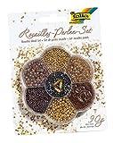 Folia 12906 - Rocailles Perlen Set, ca. 90 g, gold/braun