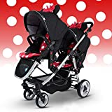 Multi-function Baby Stroller for Twins, Twins Stroller, Double Stroller & Single Stroller Convertible, Before & After 2 Seats Pushchair (B) immagine