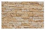 W-014 Wand-Design Verblender Travertin Gold Steinwand - 1 Muster - Naturstein Fliesen Lager Verkauf Stein-Mosaik Herne NRW