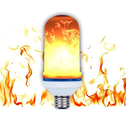 Bombillas de luz LED, SUNINESS E27 Impermeable portátil parpadeante Efecto de fuego atmósfera bombilla decorativa con 105pcs 2835 granos de LED para la fiesta del festival de Bar Decoración de Navidad