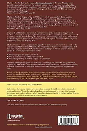 Origins of the Cold War 1941-1949 (Seminar Studies)