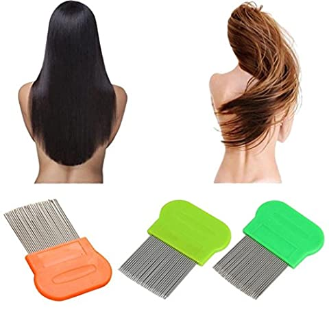 IGEMY Hair Lice Comb Brushes Terminator Fine Egg Dust Nit Free Removal Stainless Steel (random)