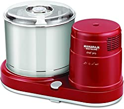 Maharaja Whiteline Chef Pro 150-Watt Wet Grinder (Red and Silver)