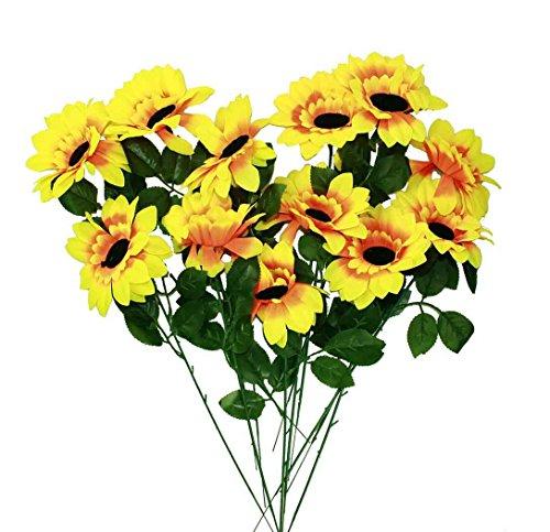 HAAC 12er Set künstliche Sonnenblume Sonnenblumen 46 cm