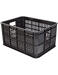 Basil bicicleta Buzón Crate S, color Negro - negro, tamaño 25, volumen liters 25.0