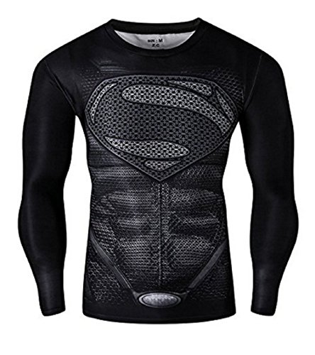 16022Xxxl - Jersey T-Shirt Sport Long With Release FÜR Man Size Xxxl Superman (Costume Carnevale Ragazza)