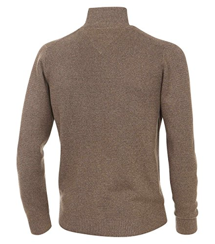 Casa Moda - Herren Strickjacke aus 100% Baumwolle mit Stehkragen (462521300A) Braun (228)