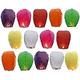 goodlucky36514unidades de colores papel Chino farolillos del Cielo lámpara de la felicitación para la Fiesta de Boda, surtidos
