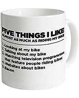 Five Things I Like - Bike Mug