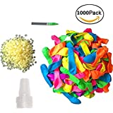 COSORO 1000 Magic Water Balloons Refill Quick And Easy Kit (With 1000 Rubber Bands+4 Water Injection Joint+4 Quick And Easy Refill Tools DIY Toys)
