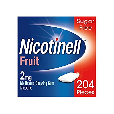 Nicotinell Nicotine Gum, Stop Smoking Aid, 2 mg, Fruit, 204 Pieces from GSK Consumer Healthcare Trading (UK) Ltd