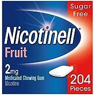 Nicotinell Nicotine Gum Stop Smoking Aid 2 mg Fruit 204 Pieces