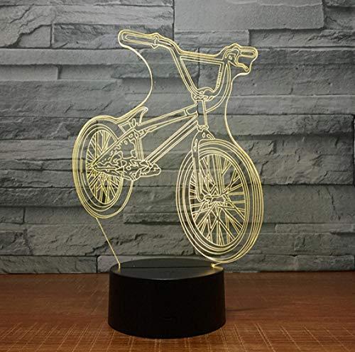 Joplc 3D Fahrrad Form Lampe USB Dekor Lichter Reiten Sport Licht 110