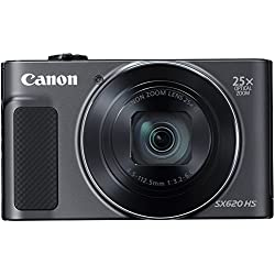 Canon PowerShot SX620HS 20.2MP Digital Camera with 25x Optical Zoom (Black) + 16GB Memory Card + Camera Case