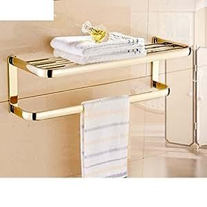 accessoires de bain serviette plaqu or de style europ en porte serviettes cuivre m tallique. Black Bedroom Furniture Sets. Home Design Ideas
