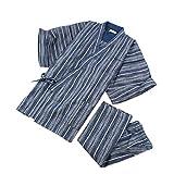 Pyjamas de Kimono Japonais d'été de Style Costume Robe de Chambre Set-Taille XL