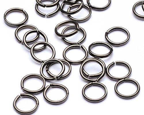 Beads Unlimited Lot de 100 Anneaux de jonction Ouverts en métal 5 mm Noir Antique