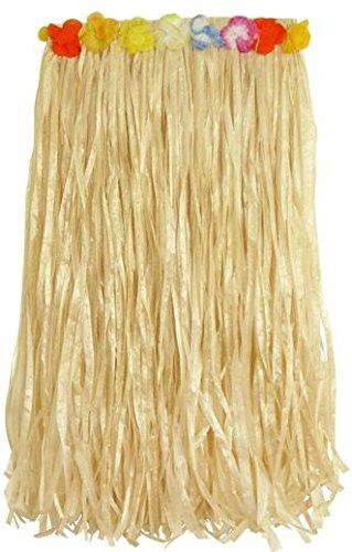 Falda-de-Hula-de-csped-natural-con-flor-de-cintura-80cm