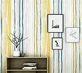 TIEZ Nordic Style Wallpapers/Moderne Minimalistische Farbe Vertikale Streifen/Schlafzimmer, Wohnzimmer/persönliche Mittelmeer/TV Hintergrundbild, 0.53 * 10m