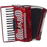 Scarlatti 3 Voice - Acordeón de teclas con 48 bajos, color rojo