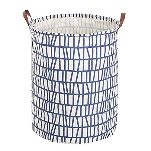 Oyfel Panier à Linge Barils de Stockage de Jouets Corbeilles Bac à Linge Household Organisateur Panier de Rangement en Tissu avec Poignée 40 * 50cm Beig