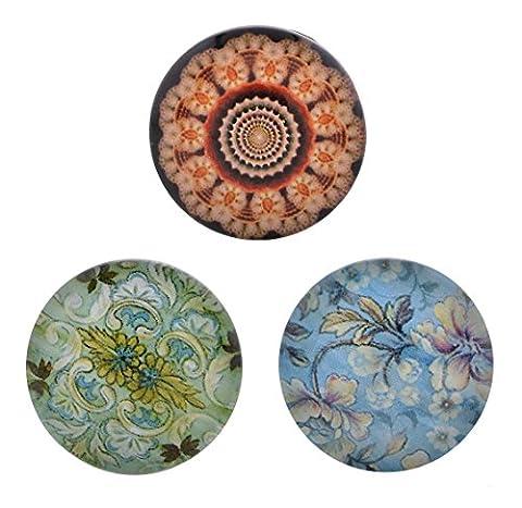 Morella Ladies Click-Button Set 3 pcs Modern Flower Press Studs