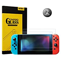 Switch Screen Protector Glass, Keten Nintendo Switch Tempered Glass Screen Protector [2-Pack] Anti-Fingerprint Bubble Free HD Screen Protective Switch Screen Protector for Nintendo Switch
