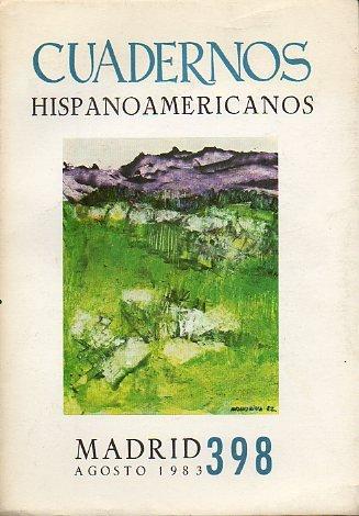 CUADERNOS HISPANOAMERICANOS. Revista mensual de cultura hispánica. Nº 398.