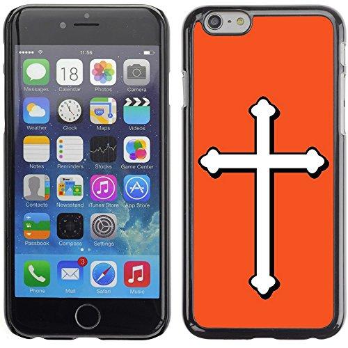 Graphic4You Kreuzr Design Harte Hülle Case Tasche Schutzhülle für Apple iPhone 6 Plus / 6S Plus (Aqua Blau) Orange