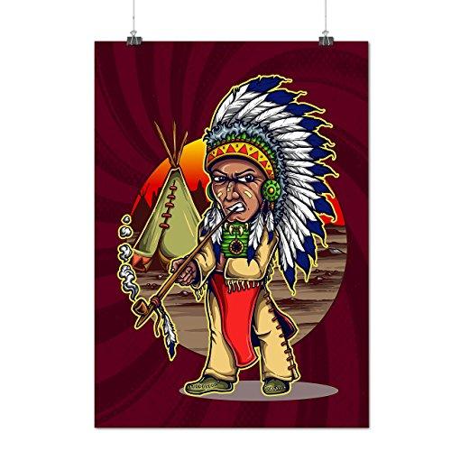 Kostüme Chef Indische (Einheimische indisch Chef Chef Mattes/Glänzende Plakat A3 (42cm x 30cm) |)
